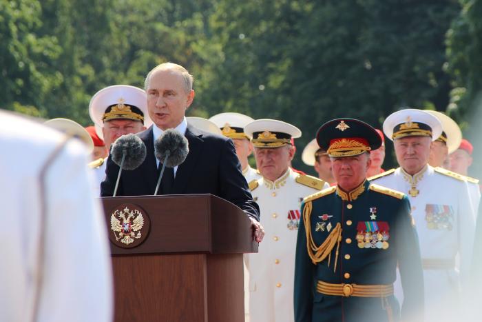 Выступление Владимира Путина на Главном военно-морском параде 2019