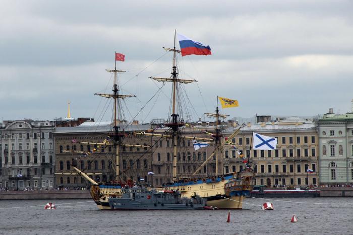 "Линкор ""Полтава"" на Главном военно-морском параде 2019"