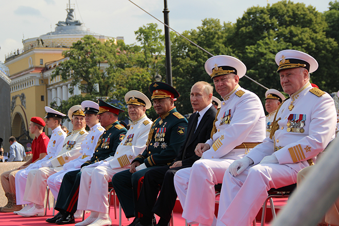 Владимир Путин на Главном военно-морском параде 28.07.2019