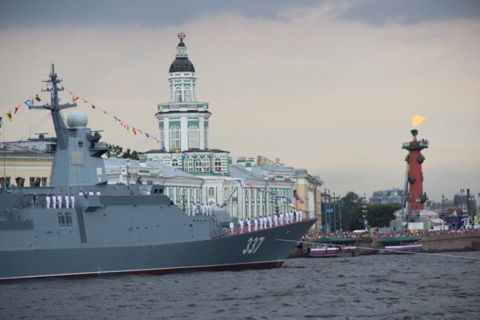 "Корвет ""Гремящий"" на параде 28.07.2019"