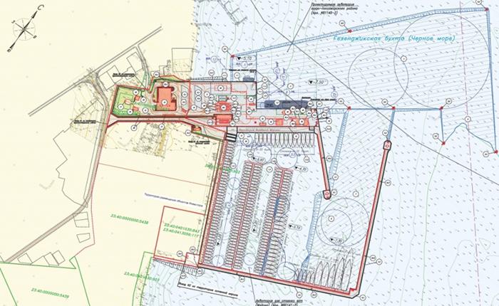Проект нового грузопассажирского порта в Геленджике