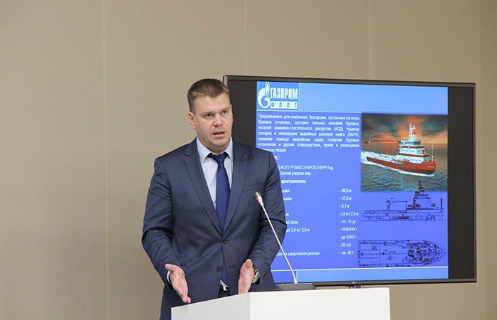 """OMR2018 - -Выступление представителя """"Газпром флота"""" Дмитрия Емельянова"""