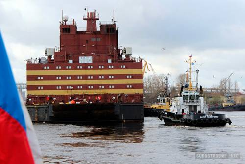 Предотвращено сближение плавучей АЭС «Академик Ломоносов» с«антиядерным» судном