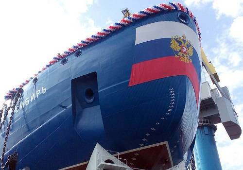 В Российской Федерации спущен наводу 2-ой ледокол нового проекта 22220