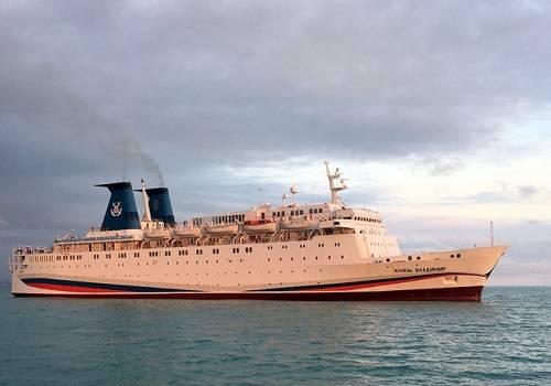 Запервую навигацию теплоход «Князь Владимир» перевез неменее 5 тыс. пассажиров