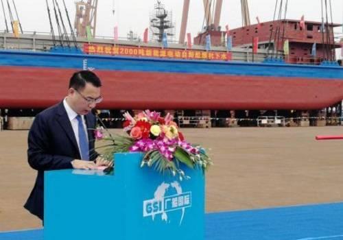 Первое вмире электросудно спущено наводу вКитайской народной республике