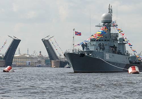 ВВоенно-морском параде вПетербурге будут участвовать неменее 40 кораблей, объявил Шойгу