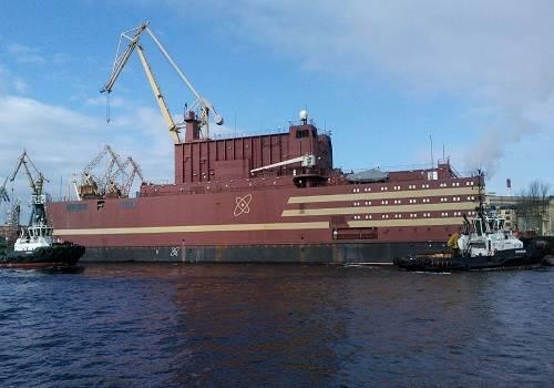 Уникальная атомная станция «Академик Ломоносов» отправилась наЧукотку