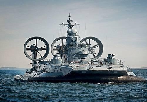 Россия возродит производство десантных кораблей навоздушной подушке
