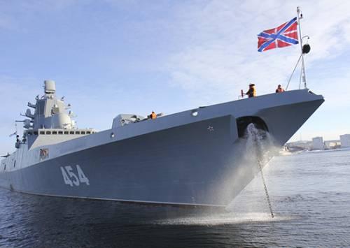 Нептун поздравил экипаж 'Адмирала Горшкова' с пересечением экватора