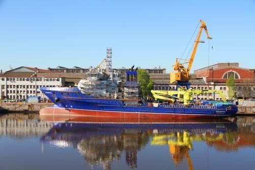 Корабль «Всеволод Бобров» спустили наводу в северной столице